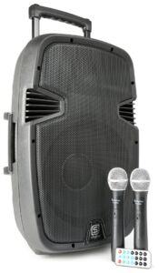 SPJ-PA912 Bafle Movil activo ABS 12´´ 2 micros VHF/USB/MP3