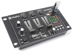STM-3020B Mezclador de 6 canales con USB/MP3 - Negro