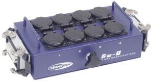 BO-8-S2 8 schukos y 2 conectores de 16 clavijas