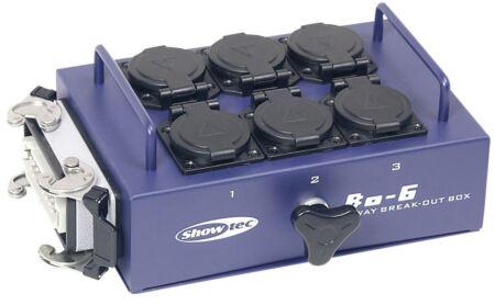 BO-6-S1 6 schukos y 1 conector de 16 clavijas