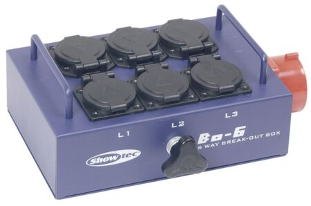 BO-6-PW 5 clavijas 380 V a 6 schukos
