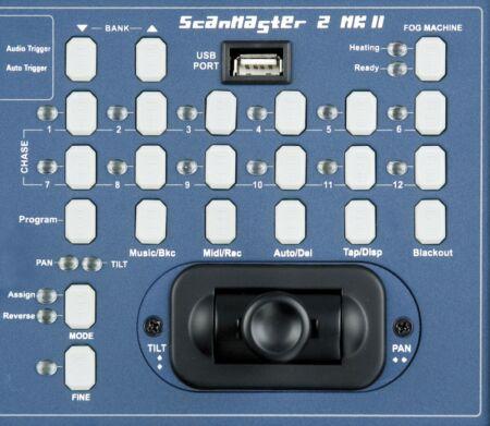 Scanmaster 2 MKII Controlador DMX para focos tipo escáner