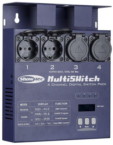 MultiSwitch Conjunto de conmutación de 4 canales DMX-512