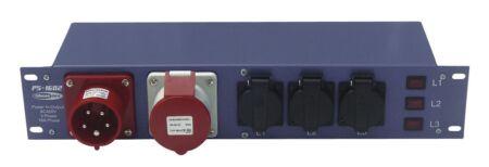 PS-1602 Entrada CEE 16A - Salida CEE 16A + 9 schukos