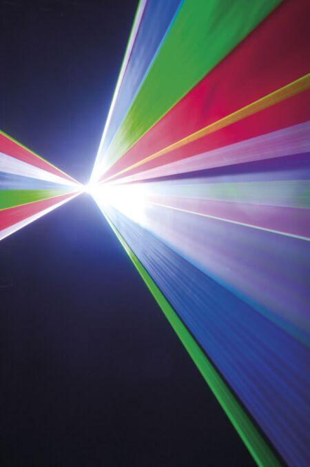 Galactic RGB850 Láser rojo, verde, azul 850mW, ILDA y DMX