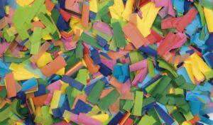 Show Confetti Rectangle 55 x 17mm Multicolor, 1 kg, ignífugo