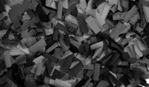 Show Confetti Rectangle 55 x 17mm Negro, 1 kg, ignífugo