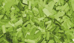 Show Confetti Rectangle 55 x 17mm Verde claro, 1 kg, ignífugo