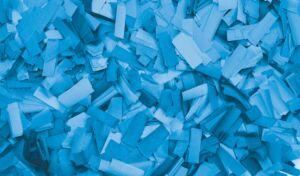 Show Confetti Rectangle 55 x 17mm Azul claro, 1 kg, ignífugo