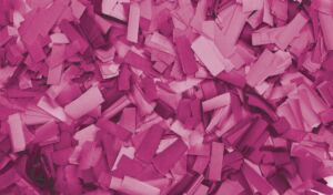 Show Confetti Rectangle 55 x 17mm Rosa, 1 kg, ignífugo