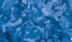 Show Confetti Rectangle 55 x 17mm Azul, 1 kg, ignífugo