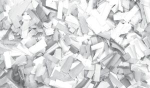 Show Confetti Rectangle 55 x 17mm Blanco, 1 kg, ignífugo