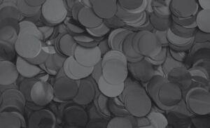 Show Confetti Round Ø55mm Negro, 1 kg, ignífugo