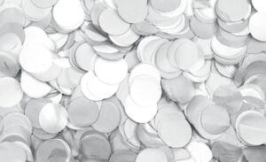 Show Confetti Round Ø55mm Blanco, 1 kg, ignífugo