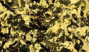 Show Confetti Metal Dorado, rectangular, 1 kg, ignífugo