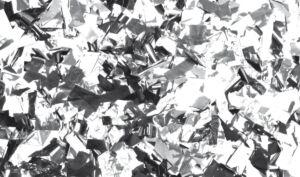 Show Confetti Metal Plateado, rectangular, 1 kg, ignífugo