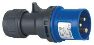 CEE Form 16A 3 Pin Cable Male Carcasa azul