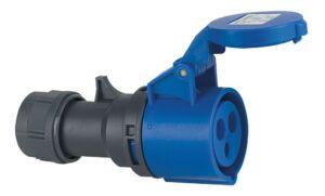 CEE Form 16A 3 Pin Cable Female Carcasa azul