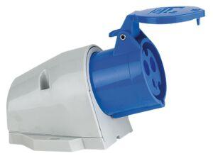 CEE Form 16A 3 Pin Wallmount Female Carcasa azul