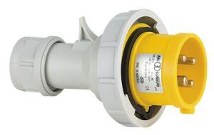 CEE Form 16A 4 Pin Cable Male Carcasa amarilla