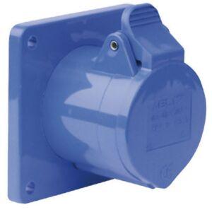 CEE Form 3 Pin Socket Female Carcasa azul
