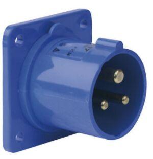 CEE Form 16A 3 Pin Socket Male Carcasa azul
