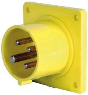 CEE Form 16A 4 Pin Socket Male Carcasa amarilla