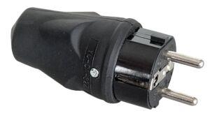 Rubber Schuko Connector Male