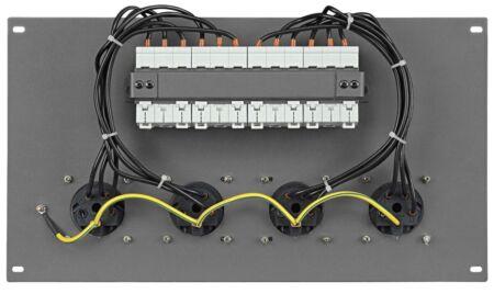 """PDP-324F Panel 19"""" con 4 tomas CEE 32 A de 5 polos + MCB"""