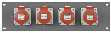 """PDP-164 Panel de 19"""" con 4 tomas CEE 16 A de 5 polos"""