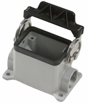 6 Pole Chassis Closed Bottom Gris con clips