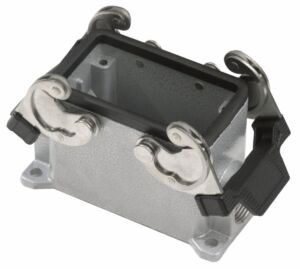 10 Pole Chassis Closed Bottom Gris con clips