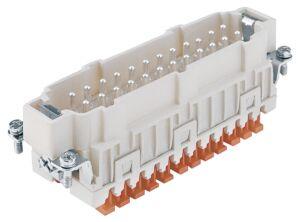 Conector Harting 24 Polos Macho