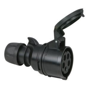 CEE 16A 400V 5p Hembra negro