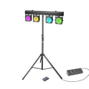 Cameo Multi PAR COB 1 SET - 4 x 30 W RGB COB LED + Maleta +
