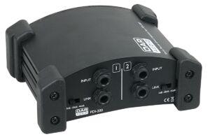 PDI-200 Caja de inyección directa (DI) estéreo pasiva