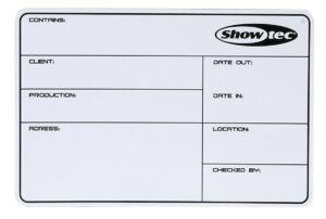 Flightcase Label SHOWTEC, magnético con cinta 3M + marcador
