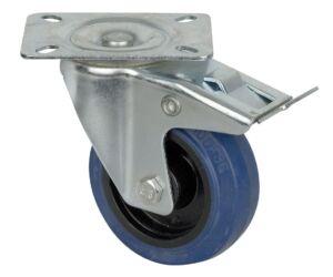 Blue Wheel, 100 mm Giratoria, con freno