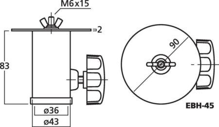 Adaptador Vaso para 35mm