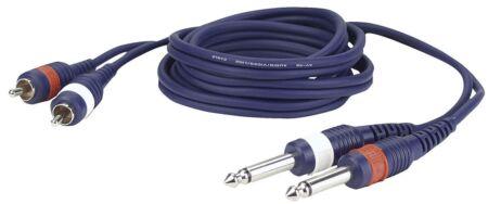 FL23 - 2 RCA Male L/R 2 mono Jack L/R 1,5 m