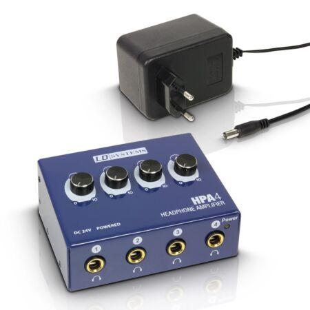 Amplificador de auriculares LD Systems HPA 4 - 4 canales