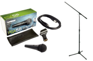 PACK MICRO SHURE PGA58BTS+PIE+CABLE