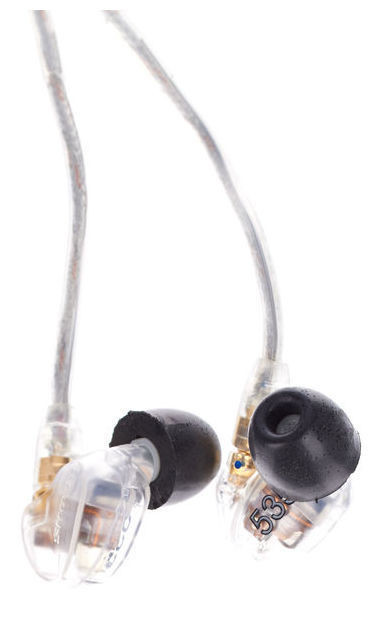 SHURE SE535(TRANSPARENTE). Auriculares in-ear