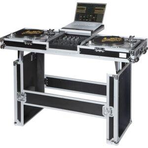 Flight case y mesa dj para tocadiscos y mezcladora dj 12''