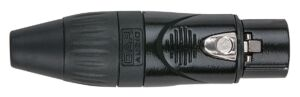 XLR 3pole X-type Female black Capacete negro