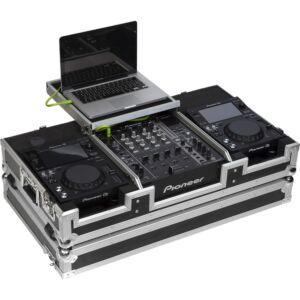 Flight case para reproductor CD 10'' y mezcladora dj 12''