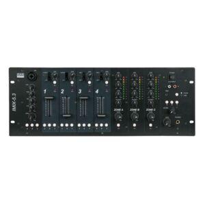 IMIX-5.3 Mesa de mezclas de 4U para instalaciones con 5 canales