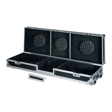 Flight case para tocadiscos y mezcladora dj 12'' 'WMDJ-12