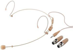 Micro diadema mini XLR 4p y 3p cardioide