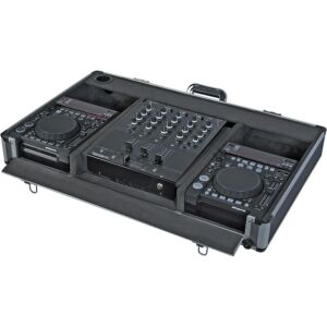 Flight case para reproductor CD 10'' y mezcladora dj 12''